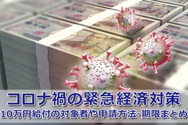 10万円給付は国民一人ひとりが対象?申請期限はいつからいつまで?